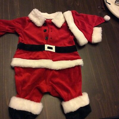 Infant Santa Outfit With Hat 0-3 Months