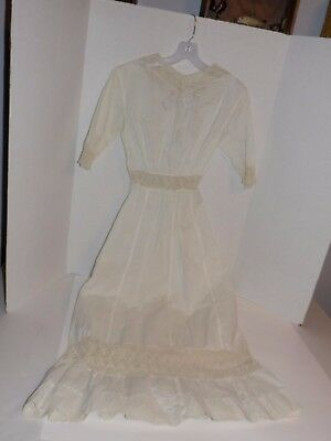 Vintage Starched Gown w/Crocheted Trim-1960's (?)-Lot #53