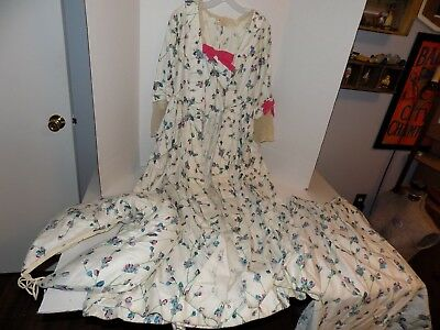 Vintage Reeanactor Costume-Gown with Bustle Pad, Under Skirt and Open Top Lot 58