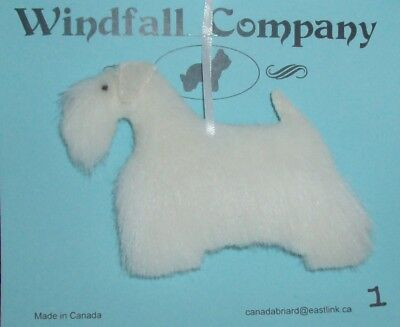 All White Sealyham Terrier Dog Soft Plush Canine Christmas Ornament #1 by WC