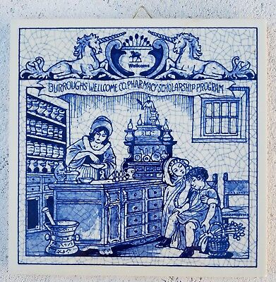 Delft Holland-Women Pharmacists TILE-June 1991 Limited Edition BW-Y02896