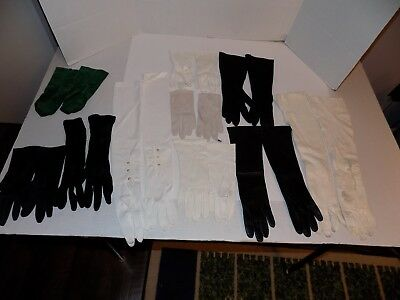 Lot of 10 Pair Vintage Lady's Gloves-Opera, Leather, Others Lot #68