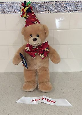 Build-a-Bear Happy Birthday Bear and Accessories Like New