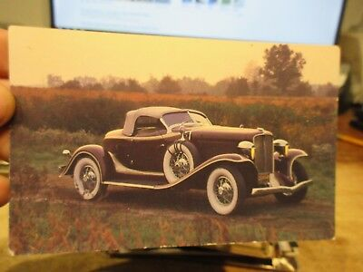 Vintage Old Postcard CAR AUTOMOBILE AUTO 1932 Auburn Speedster Detroit Michigan