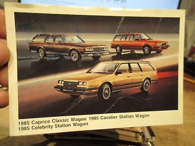Vintage Old Postcard CAR AUTOMOBILE AUTO 1985 Chevrolet Caprice Cavalier Wagon