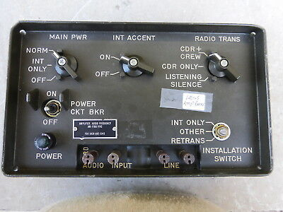 Am-1780/vrc Amplifier For An/vic-1  Military Radio Intercom  For Humvee &  Jeep