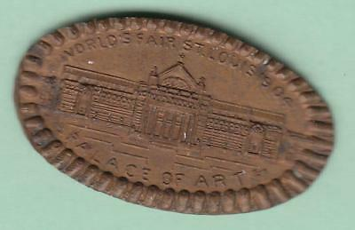 1904 St Louis World's Fair Palace of Art elongated 1904 Indian Cent inv#9174