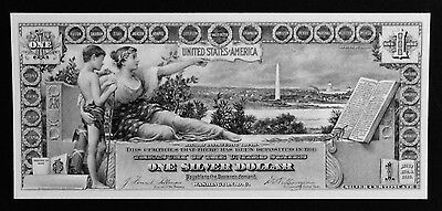 Proof Print or Intaglio Impression by BEP - Face of 1896 $1 Educational Note