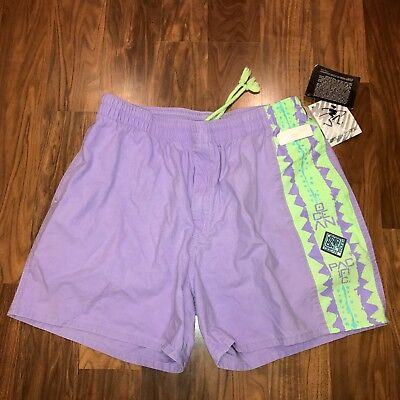 NEW Vtg 80s 90s OCEAN PACIFIC mens LARGE Surf jams Neon color block shorts L NWT
