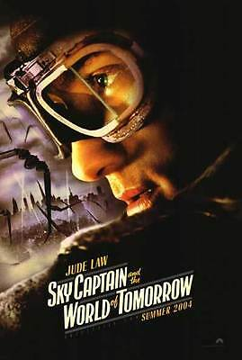 Sky Captain Original S/S Jude Law Advance Rolled Movie Poster 27x40 NEW 2004