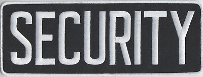 "SECURITY White on Midnight Back Panel Patch 11"" by 4"" 11 X 4"