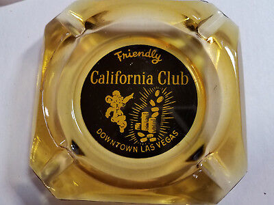 Rare 1960's  California Club Casino  Ashtray Historic Las Vegas Nevada