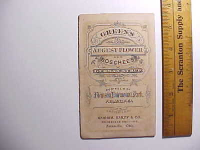 1870s FOLDING TRADE CARD TWO QUACK MEDICINES & 5 VIEWS OF PHILADELPHIA PARK VG+