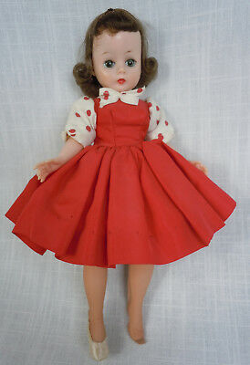 Vintage Cissette All Original with Tagged Red Dress Madame Alexander Doll 1950s