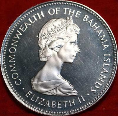 Uncirculated 1971 Bahamas Two Dollar Silver Proof Foreign Coin Free S/H