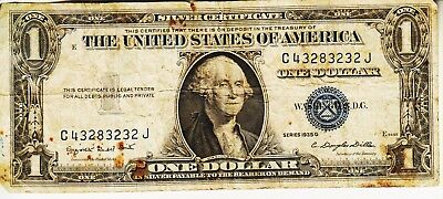 Series 1935 G    One Dollar Silver Certificate==Circulated Condition