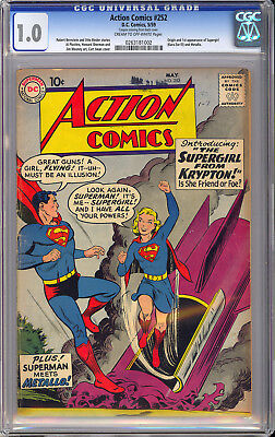 Action Comics #252 Origin & 1st App. Supergirl Key Superman DC 1959 CGC 1.0