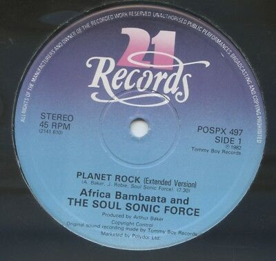 "AFRIKA BAMBAATAA AND THE SOULSONIC FORCE - Planet Rock UK 12"" Electro"