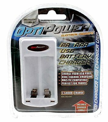 Brand New ** Usb Battery Charger ** Aa, Aaa 2.5 Hour Charger