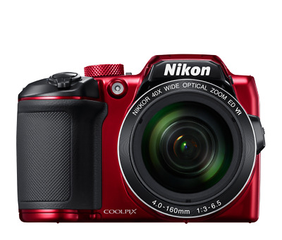 Nikon Coolpix B500 16MP Digital Camera w/ 40x Zoom-NIKKOR ED Lens (Red)