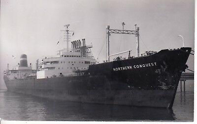 """Ship Photo: Liberian Tanker Ship """"northern Conquest""""  Built 1959"""