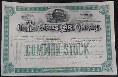 31840 USA 1894 United States Car Common Stock 10 shares certificate. Attractive