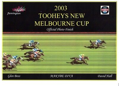 Official Horse Racing VRC 2003 Melbourne Cup Photo Finish - 'Makybe Diva'