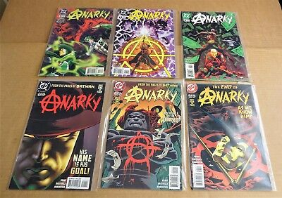 "LOT OF 6 x DC COMICS ""ANARKY COMICS""  NEW/UNREAD NM 1997/99"