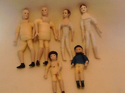 6 dolls house figures 12th scale