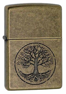 Zippo Lighter: Tree of Life - Antique Brass 29149