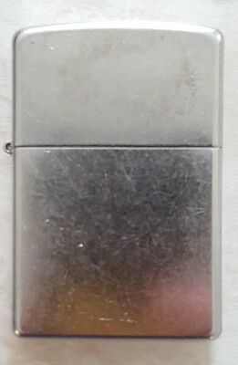 ZIPPO STREET CHROME LIGHTER  w ORANGE SEAL