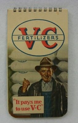 Vintage 1949 V C Fertilizer Advertising Pocket Note Book