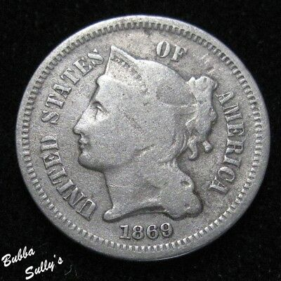 1869 III Cent Nickel <> FS-3N-1869-302 <> RPD-001 <> 1869/1869