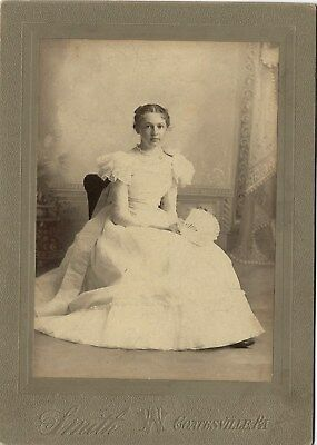 1897~Lovely Young Woman ID'd~Coatesville Pennsylvania~Antique Cabinet Photograph