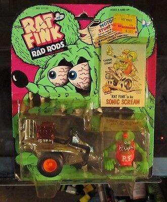 Rat Fink Rad Rods Rare Rat Fink In Sonic Scream Kenner 1990 Ed Big Daddy Roth