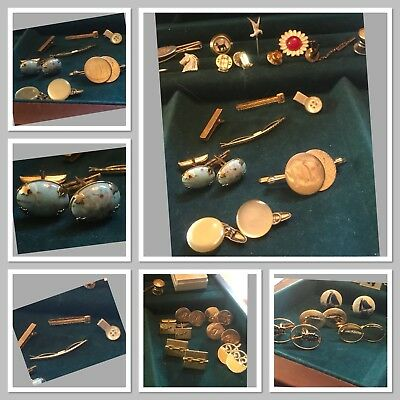 Estate Junk Drawer Lot Collectables men's Jewelry-Fraternal-Military-More 160pc