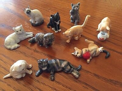 10 Captivating Cats Figurines By Danbury Mint