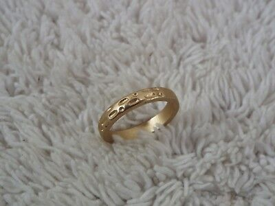 Hammered Goldtone Band Ring ~ Size 6  (C73)