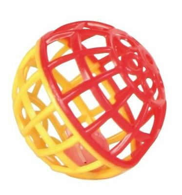 5360 6 x Trixie Rattle Balls With Bell -  Pet Budgie Bird Cage Toy - 4.5cm