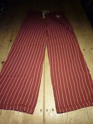 Lovely ABERCROMBIE & FITCH Red Brushed Cotton Stripe PJ Pyjama Bottoms TROUSERS