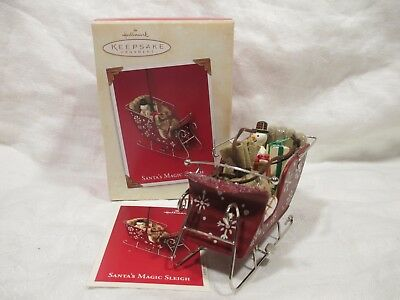 Hallmark Santa's Magic Sleigh 2003 Christmas Keepsake Ornament