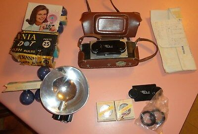 VINTAGE REALIST STEREO CAMERA With CASE FLASH and MORE