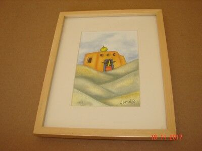 Framed Jessica Wesolek Original Santa Fa., New Mexico Water Color Painting