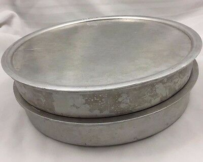 Pair (2) Deep Dish Pizza Pans With Lids-12 Inch Round-2 Inches Deep-Very Nice!
