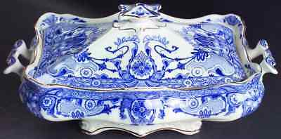 Burgess & Leigh RALEIGH (FLOW BLUE) Rectangular Covered Vegetable Bowl 9923290