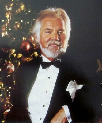 KENNY ROGERS sexy clipping Christmas color photo 1990s country music singer suit