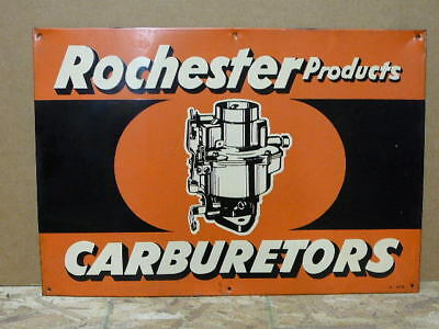 Vintage Rochester Carburetors Metal Sign