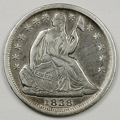 1838 Liberty Seated Half Dime.  X.F.  103184