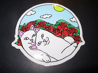 "RIPNDIP Skate Sticker CUDDLE Lord Nermal 3.5"" skateboards helmets decal"
