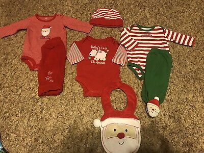 0-3 Month Baby's First Christmas Outfits Lots Carter's